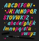 Hand gezeichneter ABC-Satz Stockbild