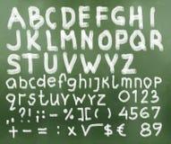 Hand gezeichneter Alphabetentwurf Lizenzfreie Stockfotos