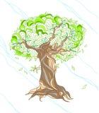 Hand gezeichneter Baum Lizenzfreie Stockfotografie