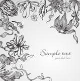 Hand gezeichneter Blumenhintergrund Stockfotografie