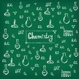 Hand gezeichneter chemischer Hintergrundvektor Lizenzfreies Stockfoto