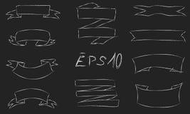 Hand gezeichneter Entwurfssatz Bänder Stockfoto