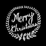 Hand gezeichneter frohe Weihnacht-Tafel-Vektor Lizenzfreie Stockfotografie