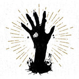Hand gezeichneter Halloween-Aufkleber mit strukturierter Vektorillustration stock abbildung