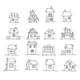 Hand gezeichneter Haussatz Stockfoto