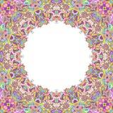 Hand gezeichneter Kaleidoskoprahmen Stockfotos