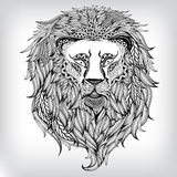 Hand gezeichneter Lion Illustration Lizenzfreie Stockfotos