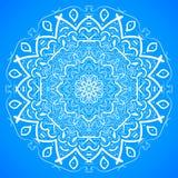 Hand gezeichneter Mandala Ornament Sketch Mockup-Vektorhintergrund Lizenzfreie Stockfotos