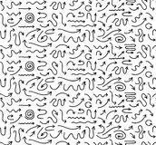Hand gezeichneter nahtloser Pfeilhintergrund Lizenzfreies Stockbild