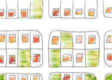 Hand gezeichneter Plan von Plänen mit Einfüllen vektor abbildung