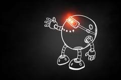 Hand gezeichneter Roboter Lizenzfreie Stockfotografie