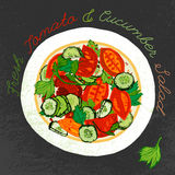 Hand gezeichneter Salat stock abbildung