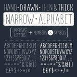 Hand gezeichneter Schrifttyp Lizenzfreie Stockfotos