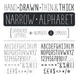 Hand gezeichneter Schrifttyp Stockfotografie