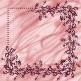 Hand gezeichneter strukturierter Blumenhintergrund Weinlesekarte mit Rosen und Blättern Lizenzfreies Stockbild