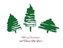 Hand gezeichneter Weihnachtsbaum. Stock Abbildung