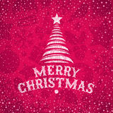 Hand gezeichneter Weihnachtsgruß Lizenzfreie Stockfotografie