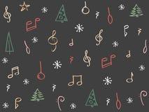 Hand gezeichneter Weihnachtshintergrund Stockfotografie