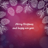 Hand gezeichneter Weihnachtshintergrund Stockbild