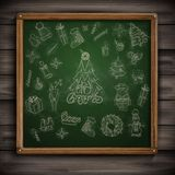 Hand gezeichneter Weihnachtssatz. Lizenzfreies Stockbild