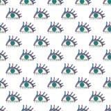 Hand gezeichnetes abstraktes Augendiagramm Nahtloser Hintergrund des Anblicks Moderne Beschaffenheit für Tapete, Packpapier, Text Lizenzfreie Stockbilder
