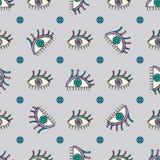 Hand gezeichnetes abstraktes Augendiagramm Nahtloser Hintergrund des Anblicks Moderne Beschaffenheit für Tapete, Packpapier, Text Stockfoto