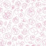 Hand gezeichnetes abstraktes Muster Vektornahtloser Hintergrund Lizenzfreie Stockbilder