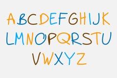 Hand gezeichnetes Alphabet Stockfoto