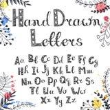 Hand gezeichnetes Alphabet Lizenzfreie Stockbilder