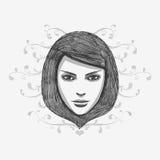 Hand gezeichnetes Art und Weisebaumuster Lizenzfreies Stockfoto