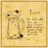 Hand gezeichnetes Bier lizenzfreie abbildung