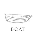 Hand gezeichnetes Boot Lizenzfreies Stockfoto
