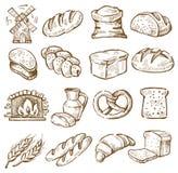 Hand gezeichnetes Brot Stockfotos
