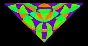 Hand gezeichnetes Dreieck Stockfotografie