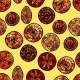 Hand gezeichnetes ethnisches nahtloses Muster stockfotografie