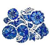 Hand gezeichnetes farbiges nahtloses mit Blumenmuster lizenzfreie abbildung