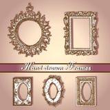 Hand gezeichnetes frames-2 Stockfotos
