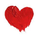 Hand gezeichnetes gemaltes Herz Lizenzfreies Stockbild
