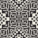 Hand gezeichnetes gemaltes nahtloses Muster Stammes- Designhintergrund des Vektors Ethnisches Motiv Geometrische ethnische Streif lizenzfreie abbildung
