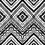 Hand gezeichnetes gemaltes nahtloses Muster Vektor Lizenzfreie Stockfotografie