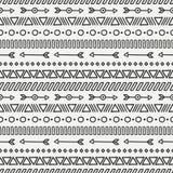Hand gezeichnetes geometrisches ethnisches nahtloses Muster Lizenzfreies Stockbild