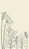 Hand gezeichnetes Gras Stockbild