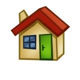Hand gezeichnetes Haus Stockfoto