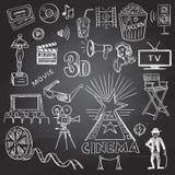 Hand gezeichnetes Kino Lizenzfreie Stockfotos