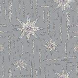 Hand gezeichnetes Kristallmuster Auszug stars nahtlosen Hintergrund Vector Beschaffenheit für Tapete, Packpapier, Gewebe Stockbild