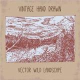 Hand gezeichnetes Land Stockbilder