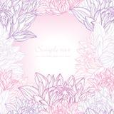 Hand gezeichnetes Lilienfeld mit Blumen Stockbilder