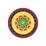 Hand gezeichnetes Mandaladesign Stockbilder