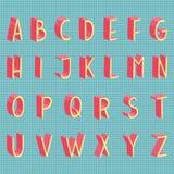 Hand gezeichnetes modernes volles Alphabet des Vektors flach Lizenzfreies Stockfoto