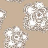 Hand gezeichnetes nahtloses Muster der abstrakten Blume Lizenzfreies Stockbild